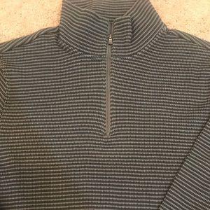 Michael Kors 1/4 Zip Sweater Large Grey